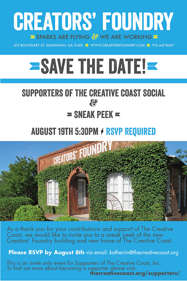 Creative Coast Creators Foundry Invite Image